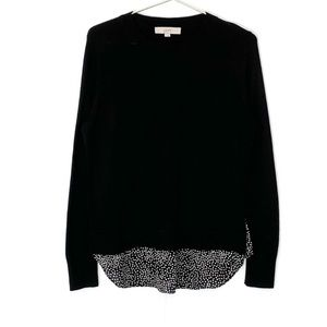 LOFT Spotted Mixed Media Sweater